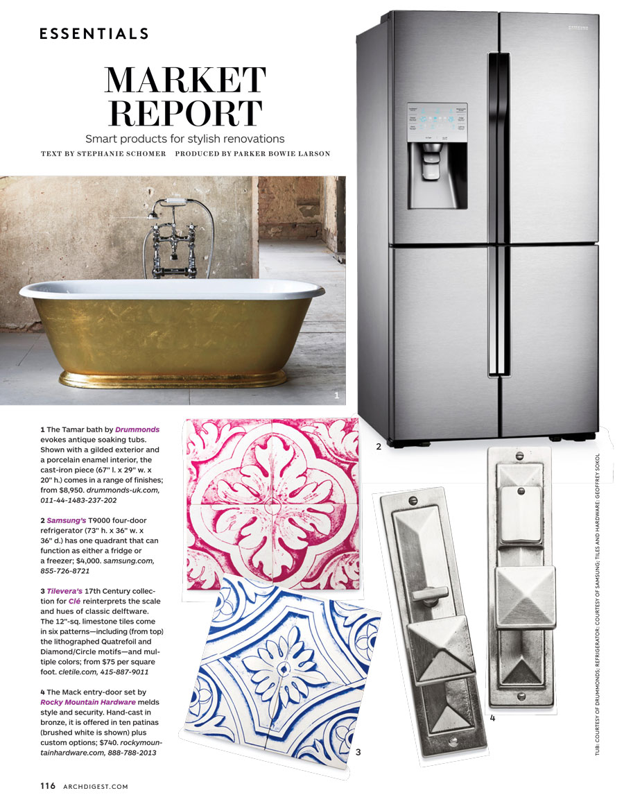 Clé Tiles in Architectural Digest