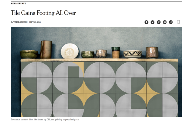 NY Times includes clé tile