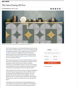 The New York Times Includes Clé Tile