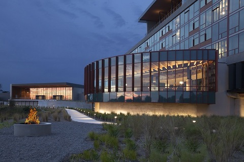 Leaf Lobby Streamsong resort Alfonso Architects
