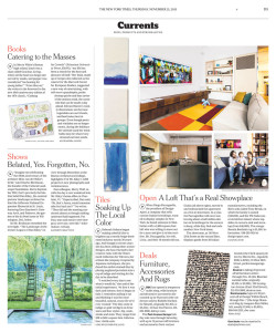 Clé in New York Times: Tiles Soaking Up the Local Color
