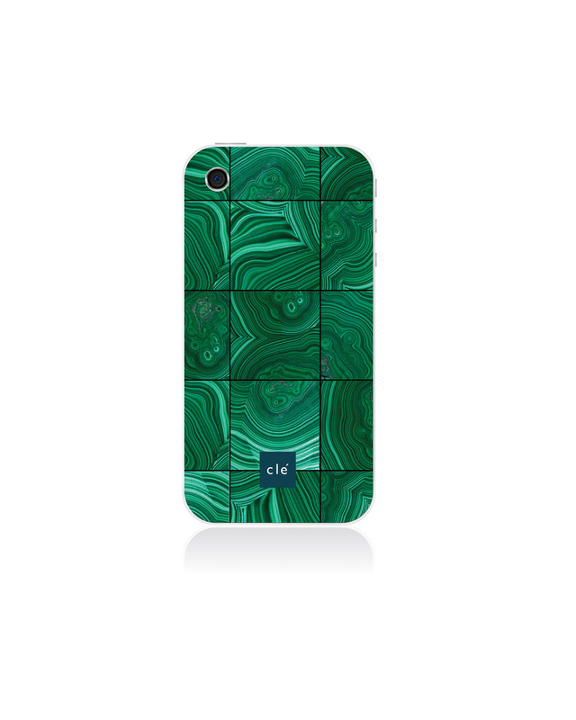 One of the Malachite iPhone cases introduced by cle